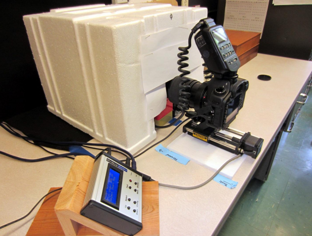 Photo rigging developed by the USGS team specifically for the Bee Inventory project. Source: USGS Bee Inventory