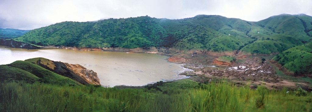 Lake Nyos. Photo is a composite of two photographs taken on August 29, 1986. Source: USGS