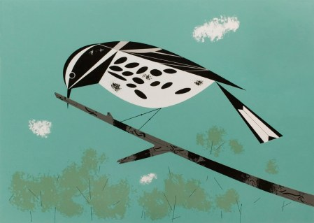 Warbler by Charley Harper. Birds and Words, 1974.