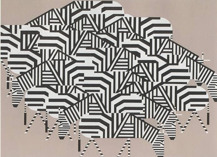 Zebras by Charley Harper