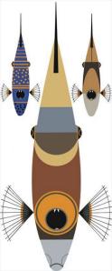 Triggerfish by Charley Harper.  2003
