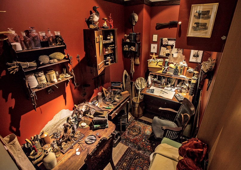 Recreation of Jenks' office for the Lost Museum exhibition.  Photo: Brown University
