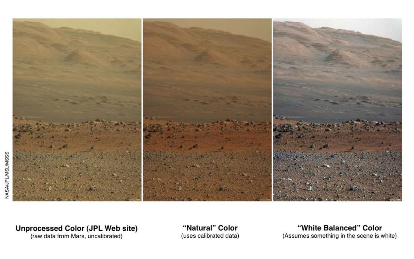 Martian Landscape in 3 versions